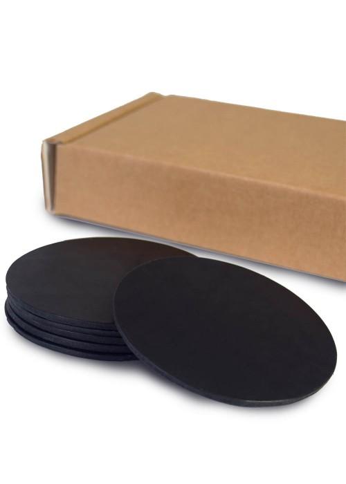 Набор костеров из черной кожи 6 шт.