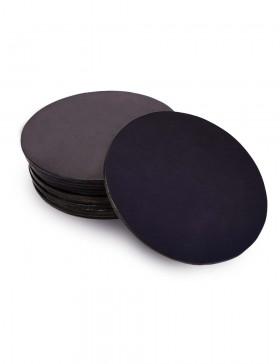 Набор костеров из черной кожи 12 шт.