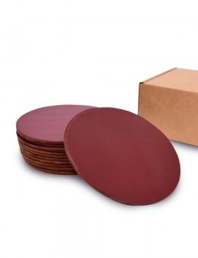 Набор костеров из коричневой кожи 12 шт.