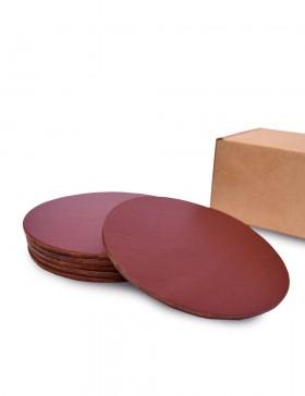 Набор костеров из коричневой кожи 6 шт.