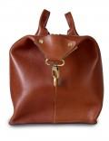 Дорожная сумка из натуральной кожи Gento Brown Stout