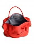 Дорожная сумка  из кожи Grand Tour (M) Red