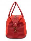 Кожаная дорожная сумка Grand Tour (M) Red-Burgundy