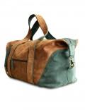 Кожаная дорожная сумка  ручной работы Grand Tour (L) Grass
