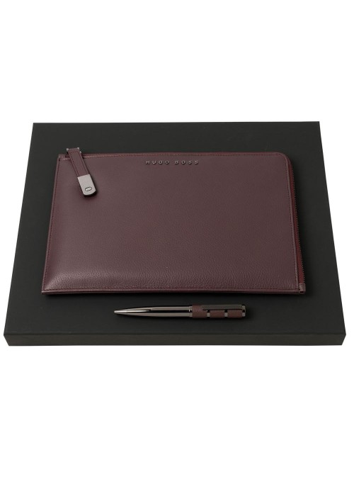 Набор Hugo Boss: конференц-папка с блокнотом А5 и ручка