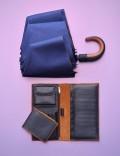 Складной зонт Palermo, темно-синий