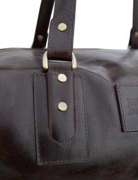 Кожаная дорожная сумка Bristol Dark Brown